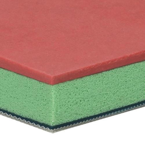 Mehrfachbeschichtung: grünes PU und Linatex