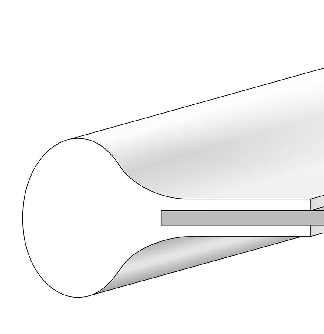 Kurve mit Führungsprofil Typ KV14MVL